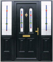 Black PVC Door Dublin